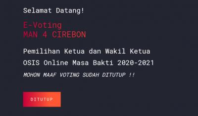 Sudah Masuk! Hasil Rekapitulasi E-voting MAN 4 Cirebon 2021