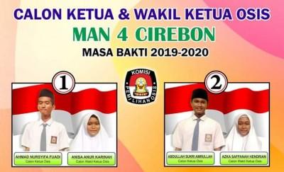 Kampanye Calon Ketua dan Wakil Ketua OSIS MAN 4 Cirebon Masa Bakti 2019-2020