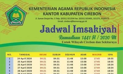 Jadwal Imsakiyah Ramadhan 1441 H.
