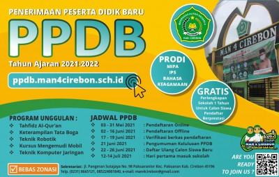 Informasi PPDB MAN 4 Cirebon Tahun Pelajaran 2021-2022