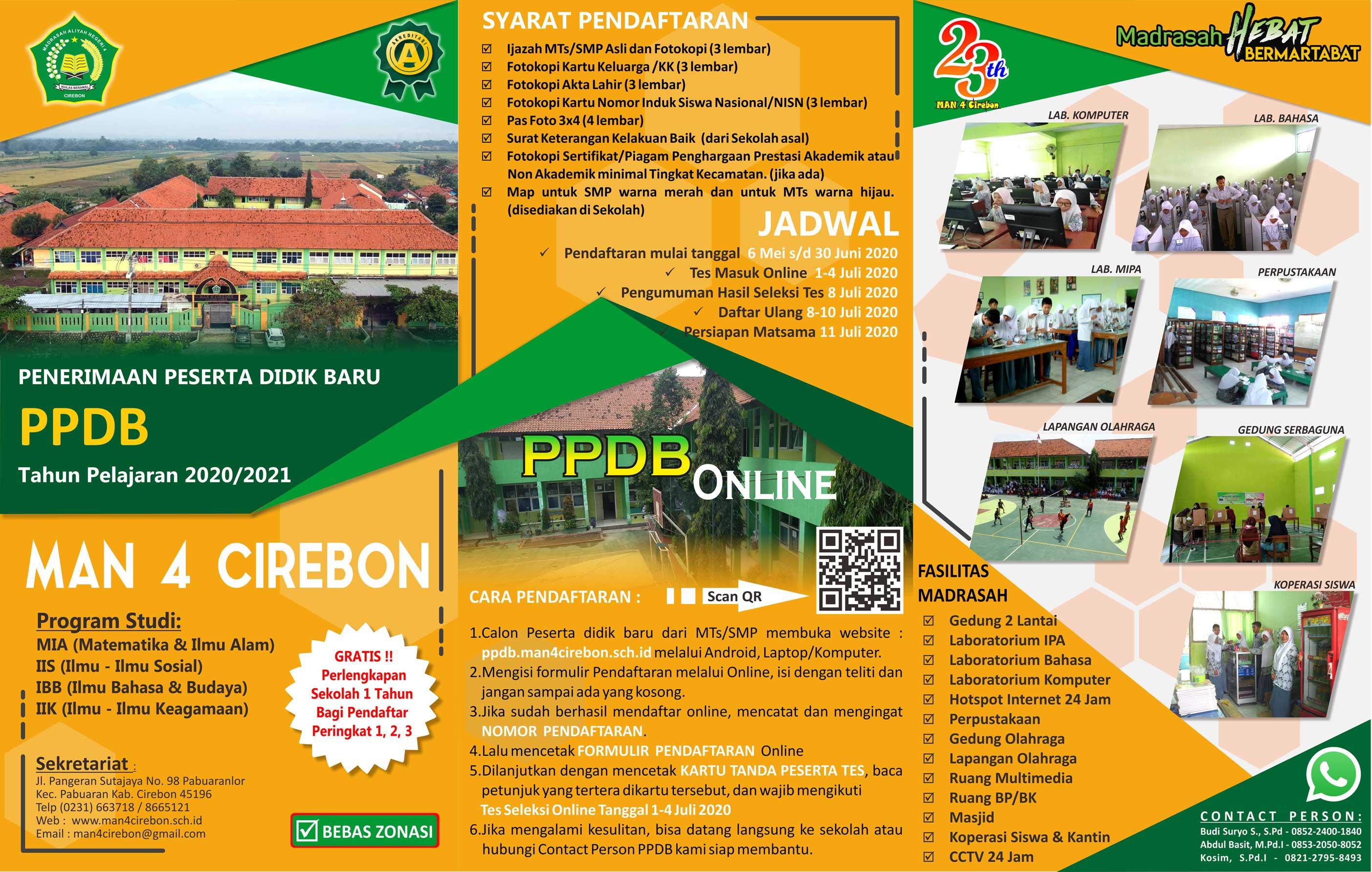 Brosur PPDB MAN 4 Cirebon 2020 A